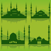 Mosque set — Stock Vector