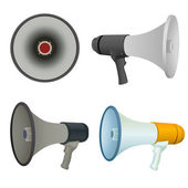 Bullhorn set — Vector de stock
