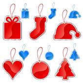 Christmas tag set — Stock Vector