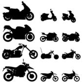 Motorcycle set — Stock Vector