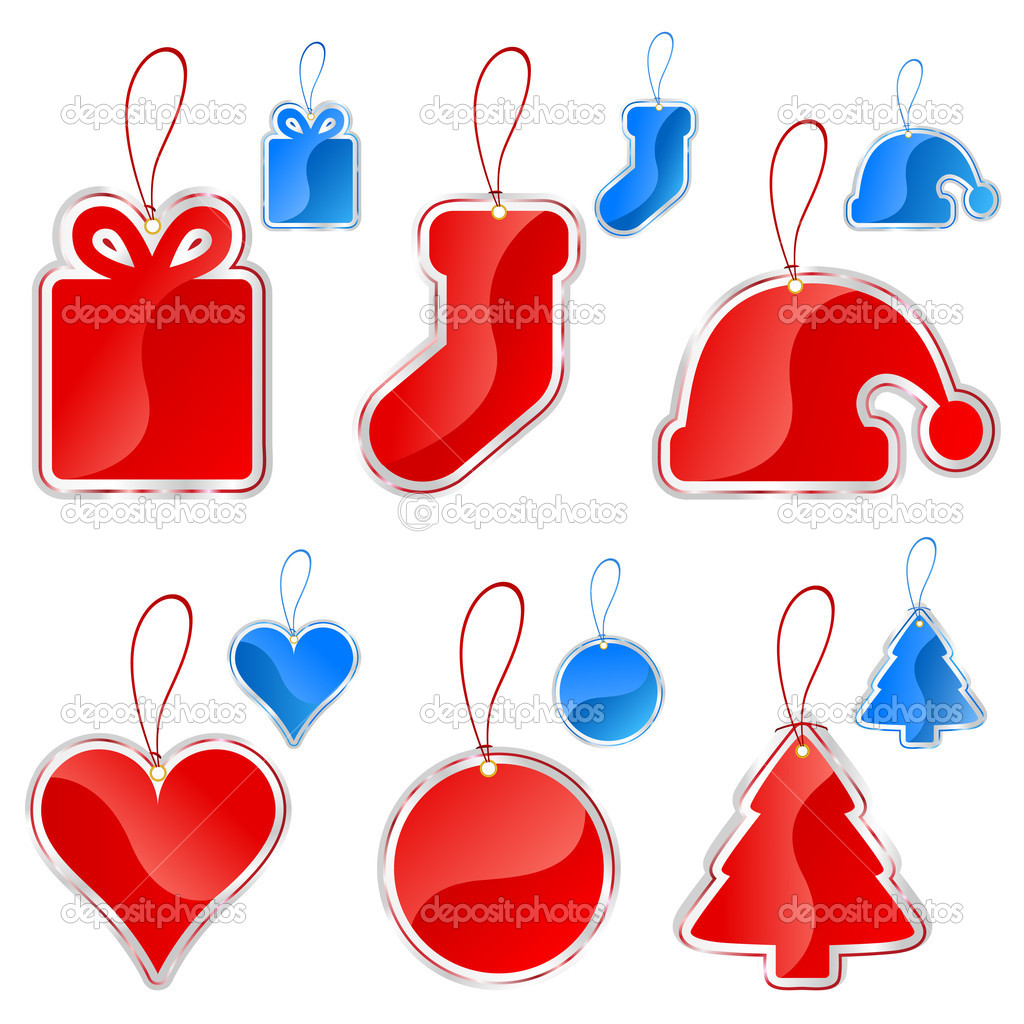 Christmas tag set vector — Stock Vector #8486551