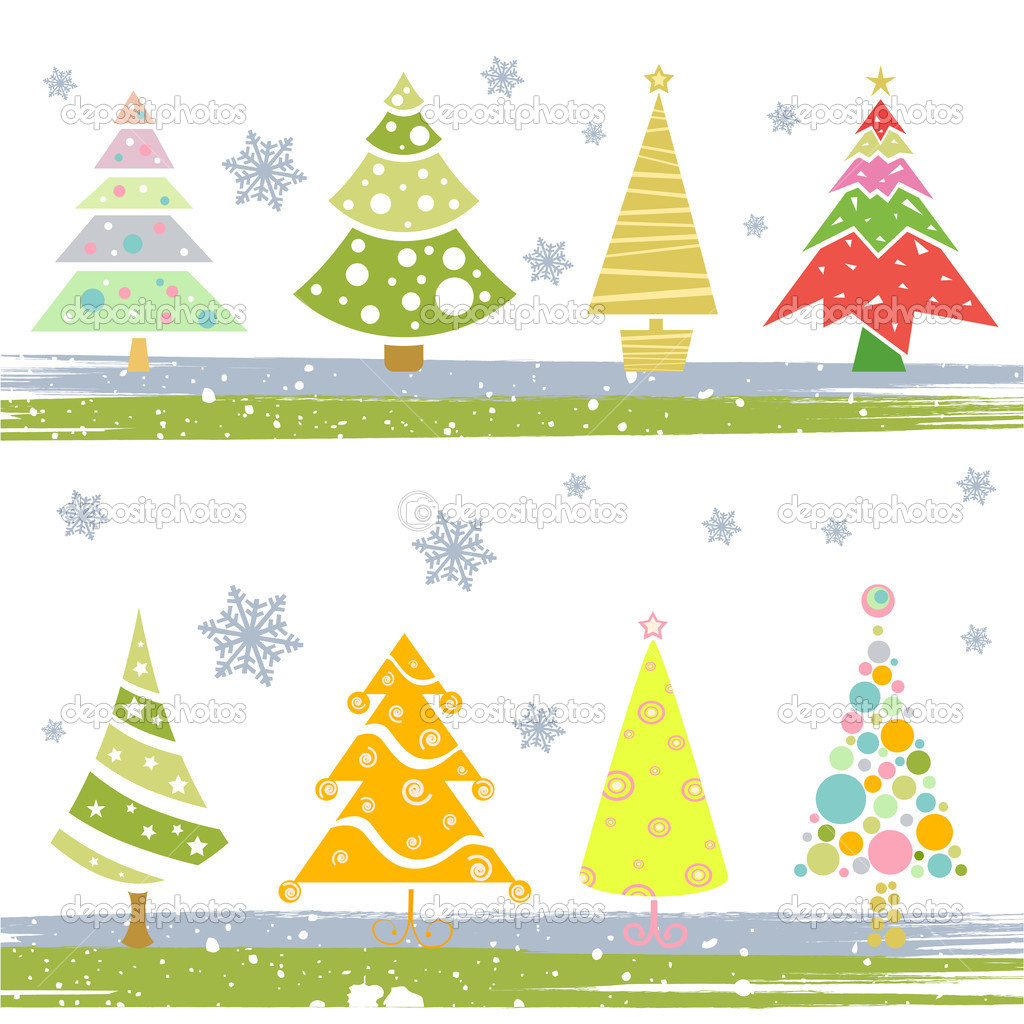 Christmas tree vector — Stock Vector #8486663
