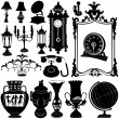 Antique objects vector — Stock Vector