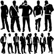 Fashion men vector - Stockvectorbeeld