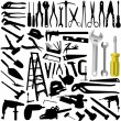 Stock Vector: Collection of tool vector