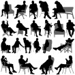 Royalty-Free Stock Vector Image: Sitting vector
