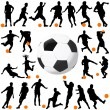 Soccer and ball vector - Stockvectorbeeld