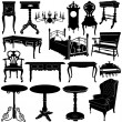 Antique furniture vector — Stock Vector #8555614