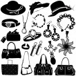 Women accessories vector - Stock Vector