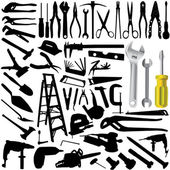 Collection of tool vector — Stock Vector