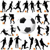 Futbol ve top vektör — Stok Vektör