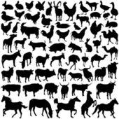 çiftlik hayvan vektör — Stok Vektör