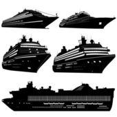 Crociera nave vettoriale — Vettoriale Stock