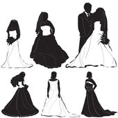 Bride groom vector — Stock Vector