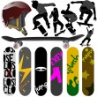 Skateboard set - Stockvectorbeeld