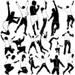 Royalty-Free Stock Vector Image: Dancing and party men