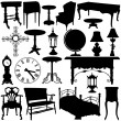 Antique furniture vector — Stockvektor