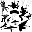 Extreme fly sports — Stock Vector