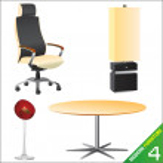 Modern furniture set — Stock Vector
