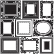 Stock Vector: Picture frame set