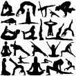 Yoga set — Stock Vector