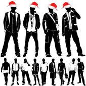 Christmas fashion men — Stock Vector