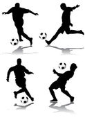 Soccer player — Vector de stock
