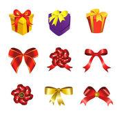 Ribbon and gift box — Stock Vector
