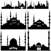 Moskee set — Stockvector