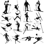 Set di sci — Vettoriale Stock