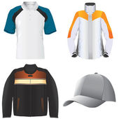Ubrania i kapelusz — Wektor stockowy