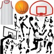 Basketball and equipments - Stock Vector