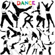 Royalty-Free Stock Vector Image: Dance vector  with clothes detail