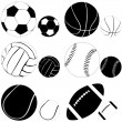 Stock Vector: Sport ball set