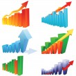 3d statistic buiness chart — Stock Vector