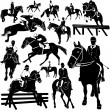 Horse, equestrian set - Stock Vector