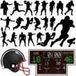 Americfootball set — Stockvector #8805426