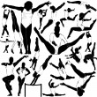 Athletic and gymnastics set - Stock Vector