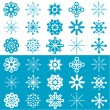 Snowflakes background - Stock Vector