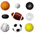 Sport balls detail — Stock Vector