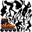 Stock Vector: Rollerblade set