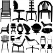 Stockvector : Modern chair set
