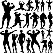 Gym, fitness set — Stock Vector