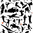 Collection of sports set - Stock Vector