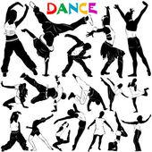 танец вектор с одежду подробно — Cтоковый вектор