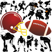 American football set — Stock Vector