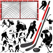 Hockey set — Stock Vector