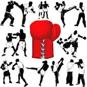 Juego de boxeo — Vector de stock