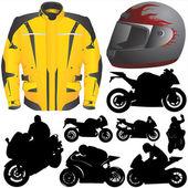 Yarış motosiklet seti — Stok Vektör