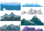 Mountain set — Stock Vector
